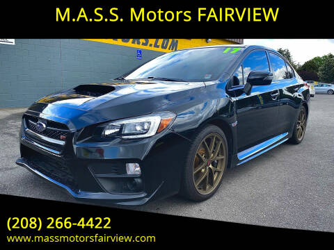 2017 Subaru WRX for sale at M.A.S.S. Motors - Fairview in Boise ID