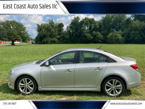 2014 Chevrolet Cruze for sale at East Coast Auto Sales llc in Virginia Beach VA