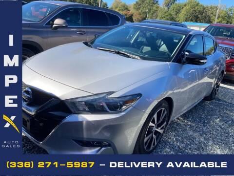 2016 Nissan Maxima for sale at Impex Auto Sales in Greensboro NC