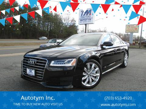 2017 Audi A8 L for sale at AUTOTYM INC in Fredericksburg VA
