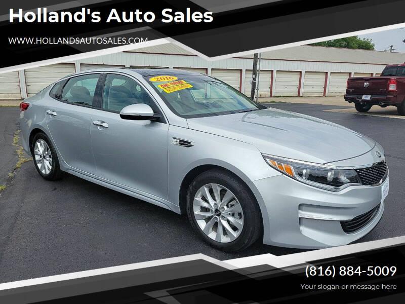 2016 Kia Optima for sale at Holland's Auto Sales in Harrisonville MO