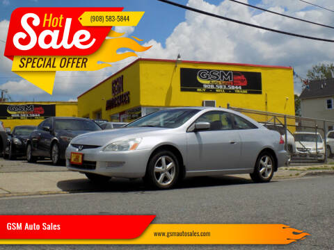 2004 Honda Accord for sale at GSM Auto Sales in Linden NJ