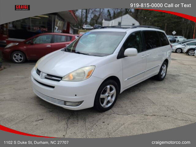 2004 Toyota Sienna for sale at CRAIGE MOTOR CO in Durham NC