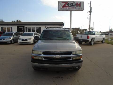 2002 Chevrolet Tahoe for sale at Zoom Auto Sales in Oklahoma City OK