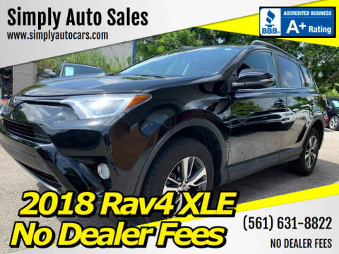 2018 Toyota RAV4 for sale at Simply Auto Sales in Palm Beach Gardens FL
