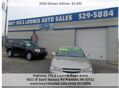 2000 Nissan Altima for sale at Highway 100 & Loomis Road Sales in Franklin WI