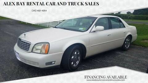 2002 Cadillac DeVille for sale at Alex Bay Rental Car and Truck Sales in Alexandria Bay NY