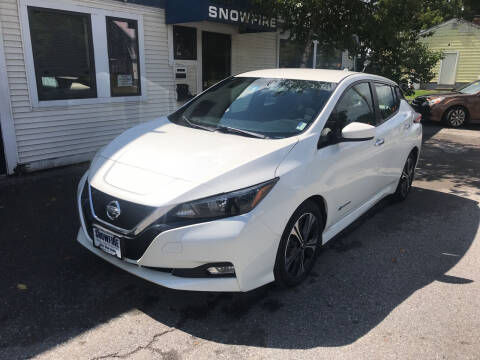2018 Nissan LEAF for sale at Snowfire Auto in Waterbury VT