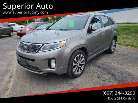 2014 Kia Sorento for sale at Superior Auto in Cortland NY