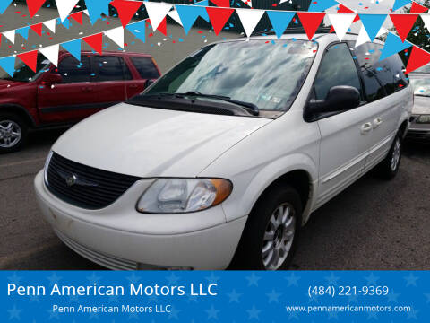 2003 Chrysler Town and Country for sale at Penn American Motors LLC in Allentown PA