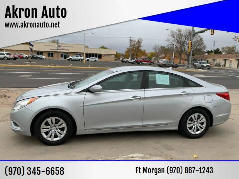 2011 Hyundai Sonata for sale at Akron Auto - Fort Morgan in Fort Morgan CO
