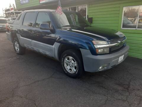 2002 Chevrolet Avalanche for sale at Amazing Choice Autos in Sacramento CA