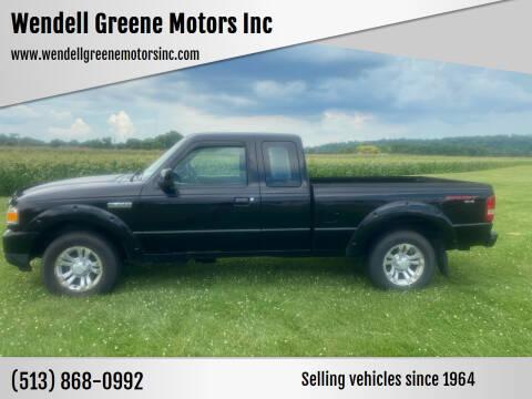 2010 Ford Ranger for sale at Wendell Greene Motors Inc in Hamilton OH