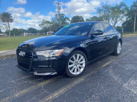 2014 Audi A6 for sale at Lamberti Auto Collection in Plantation FL