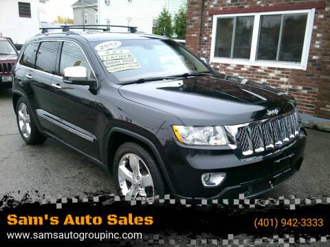 2012 Jeep Grand Cherokee for sale at Sam's Auto Sales in Cranston RI
