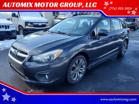 2013 Subaru Impreza for sale at AUTOMIX MOTOR GROUP, LLC in Swansea MA