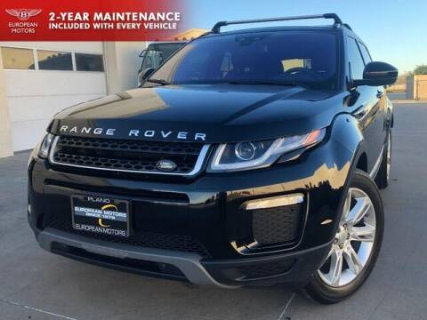 2016 Land Rover Range Rover Evoque for sale at European Motors Inc in Plano TX