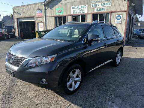2011 Lexus RX 350 for sale at Richland Motors in Cleveland OH