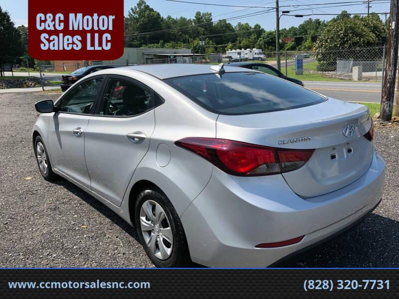 2016 Hyundai Elantra for sale at C&C Motor Sales LLC in Hudson NC