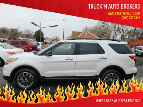 2013 Ford Explorer for sale at Truck 'N Auto Brokers in Pocatello ID