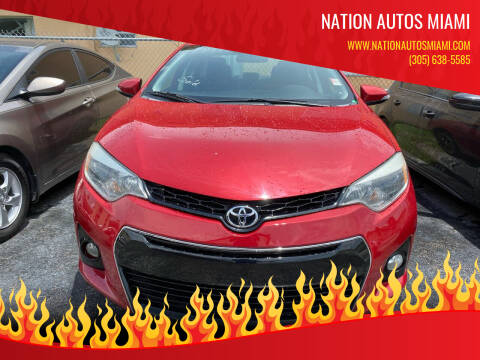 2015 Toyota Corolla for sale at Nation Autos Miami in Hialeah FL