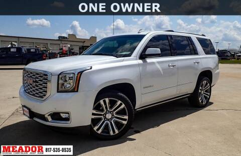 2019 GMC Yukon for sale at Meador Dodge Chrysler Jeep RAM in Fort Worth TX