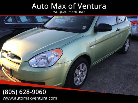 2007 Hyundai Accent for sale at Auto Max of Ventura in Ventura CA