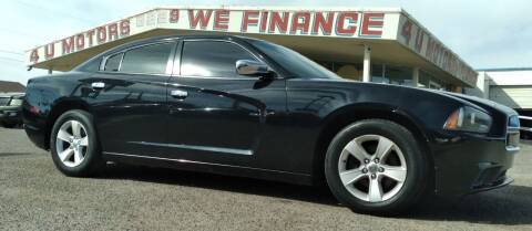 2014 Dodge Charger for sale at 4 U MOTORS in El Paso TX