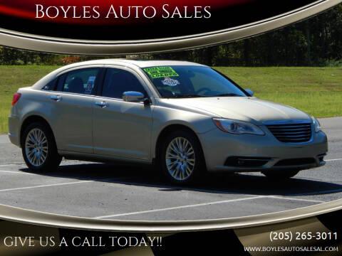 2011 Chrysler 200 for sale at Boyles Auto Sales in Jasper AL