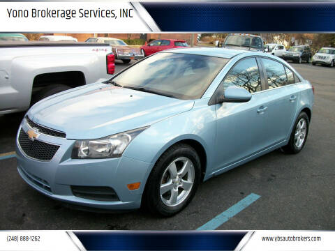 2011 Chevrolet Cruze for sale at Yono Brokerage Services, INC in Farmington MI