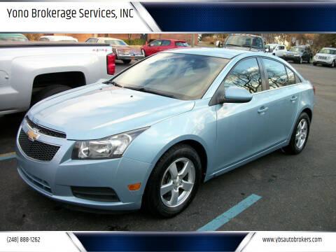 2011 Chevrolet Cruze for sale at Yono Brokerage Services, INC in Farmington MI