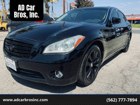 2012 Infiniti M37 for sale at AD Car Bros, Inc. in Whittier CA