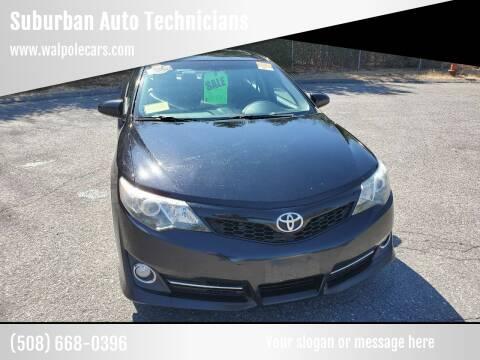 2013 Toyota Camry for sale at Suburban Auto Technicians in Walpole MA