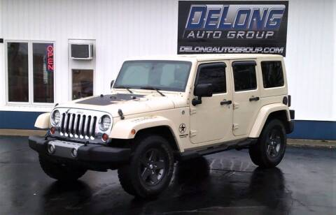 2011 Jeep Wrangler Unlimited for sale at DeLong Auto Group in Tipton IN
