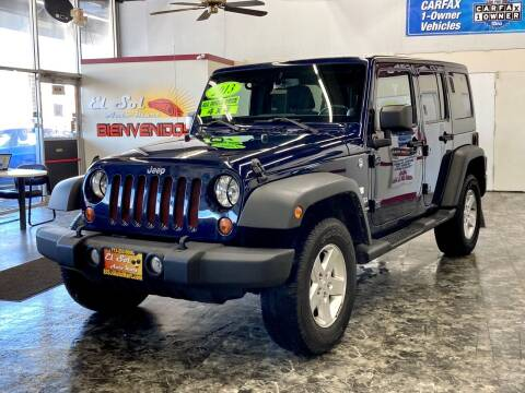 2013 Jeep Wrangler Unlimited for sale at EL SOL AUTO MART in Franklin Park IL