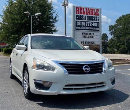 2015 Nissan Altima for sale at Reliable Cars & Trucks LLC in Raleigh NC