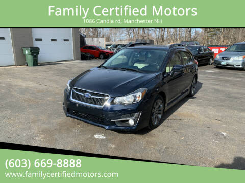 2015 Subaru Impreza for sale at Family Certified Motors in Manchester NH