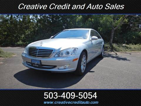 2007 Mercedes-Benz S-Class for sale at Creative Credit & Auto Sales in Salem OR