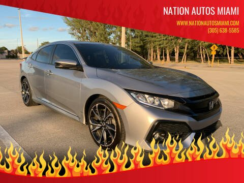 2017 Honda Civic for sale at Nation Autos Miami in Hialeah FL