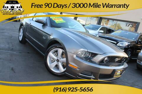 2014 Ford Mustang for sale at West Coast Auto Sales Center in Sacramento CA