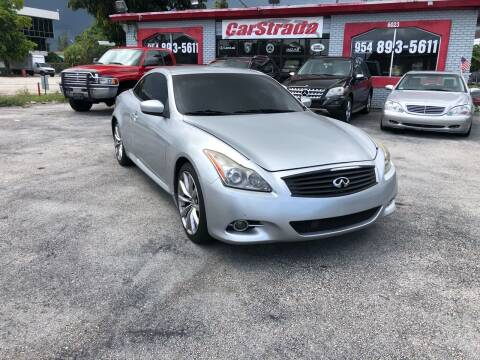 2009 Infiniti G37 Convertible for sale at CARSTRADA in Hollywood FL