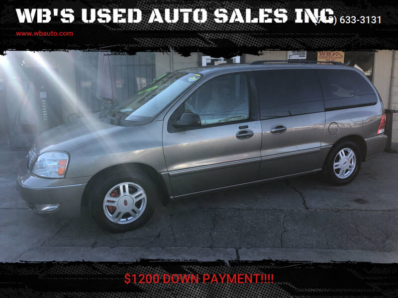 2005 Ford Freestar for sale at WB'S USED AUTO SALES INC in Houston TX