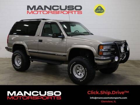 1999 Chevrolet Tahoe for sale at Mancuso Motorsports in Glenview IL