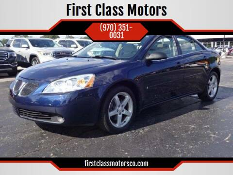 2008 Pontiac G6 for sale at First Class Motors in Greeley CO