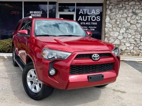 2015 Toyota 4Runner for sale at ATLAS AUTOS in Marietta GA