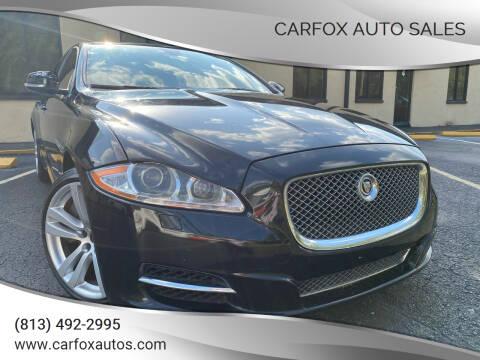 2011 Jaguar XJ for sale at Carfox Auto Sales in Tampa FL