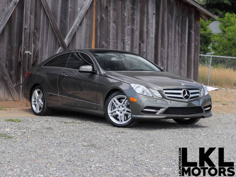 2013 Mercedes-Benz E-Class for sale at LKL Motors in Puyallup WA