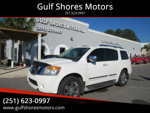 2012 Nissan Armada for sale at Gulf Shores Motors in Gulf Shores AL