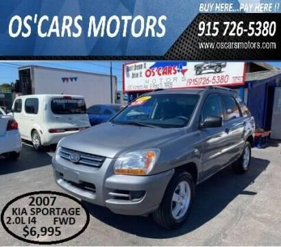 2007 Kia Sportage for sale at Os'Cars Motors in El Paso TX