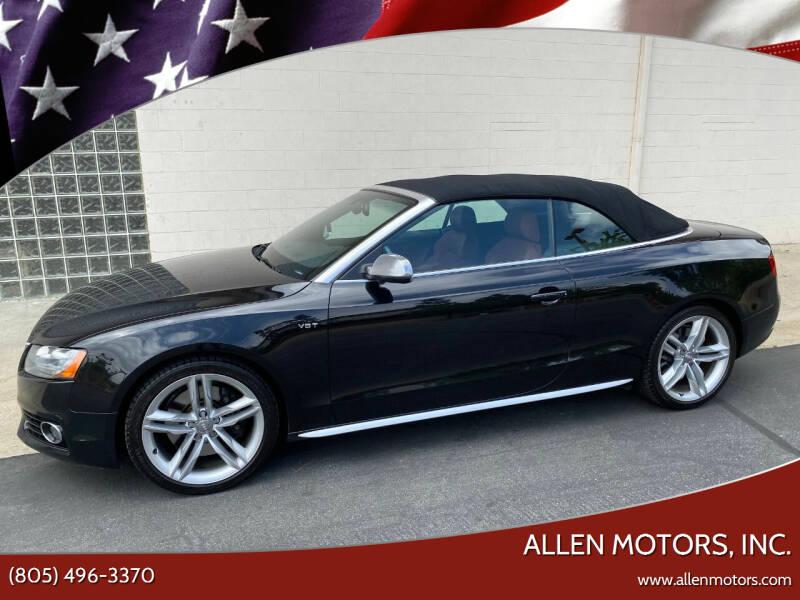 2012 Audi S5 for sale at Allen Motors, Inc. in Thousand Oaks CA